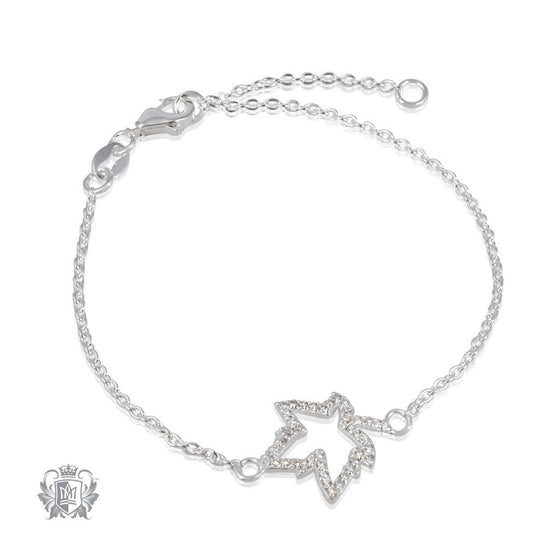 Metalsmiths Sterling Silver Sparkling Maple Leaf Bracelet