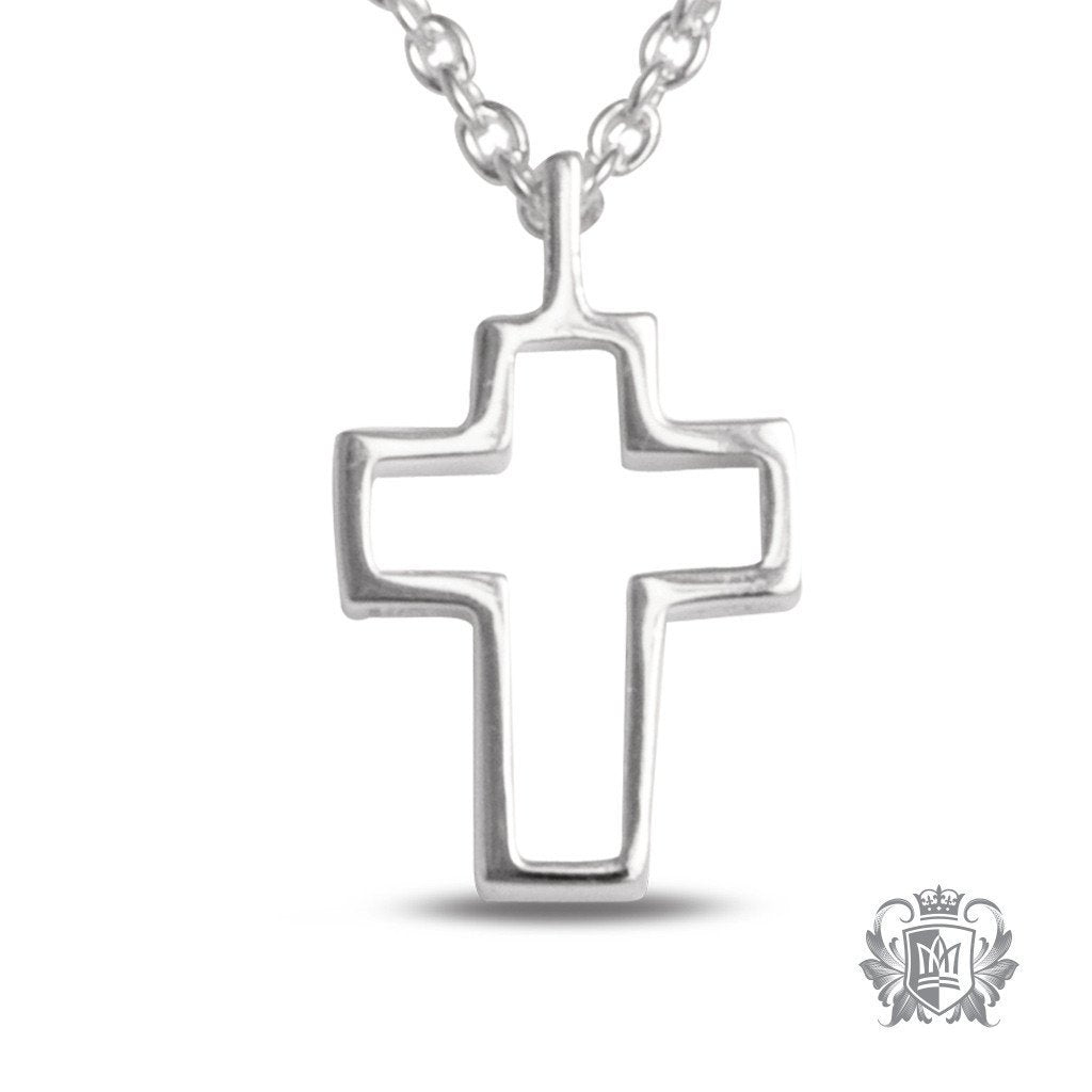 Small Cut-Out Cross Pendant - 18 inch chain Pendants - 1