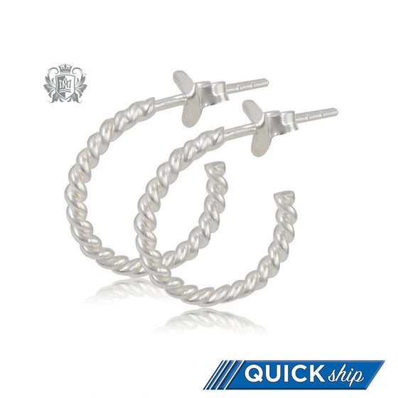 Bubble Twist Hoops - Small Quick Ship