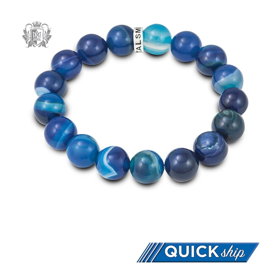 Quick Ship Blue Agate Friendship Bracelet