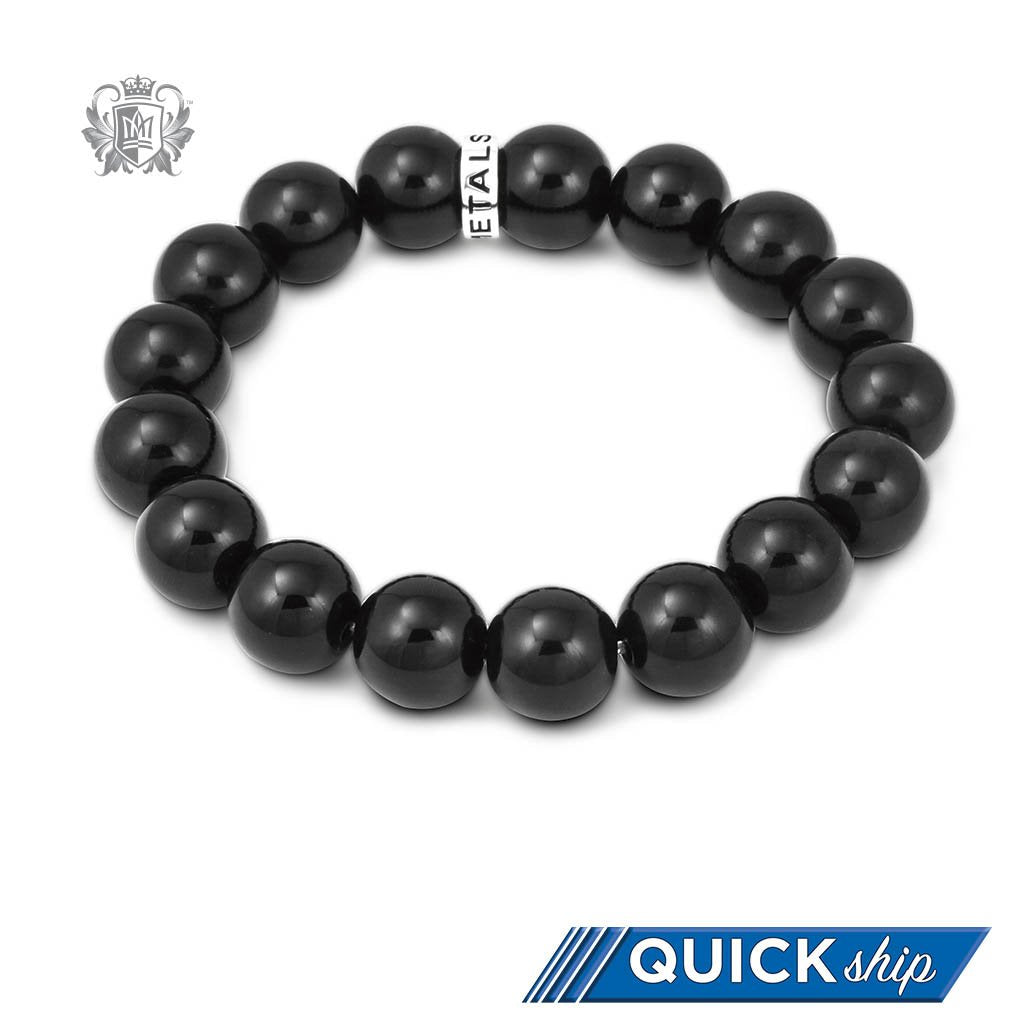 Quick Ship Black Onyx Friendship Bracelet
