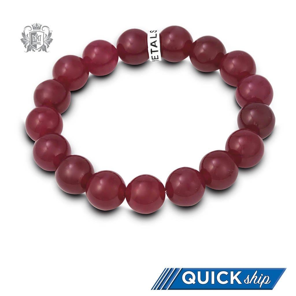 Quick Ship Red Quartz Friendship Bracelet