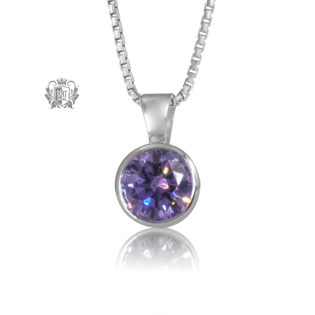 diamond pendant white gold necklace set product bezel