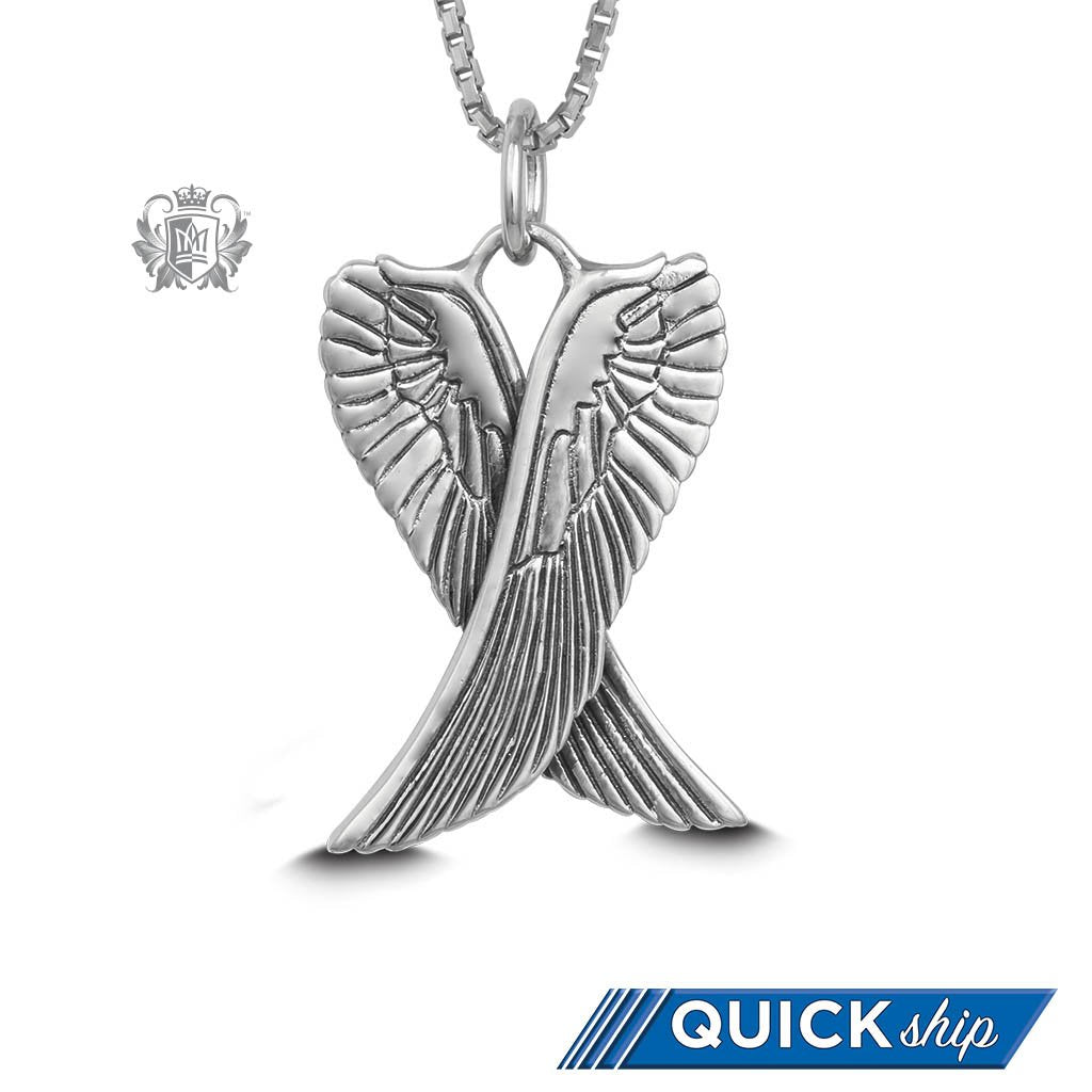 wings pendant siob fullxfull il angel folded zoom listing sterling silver necklace
