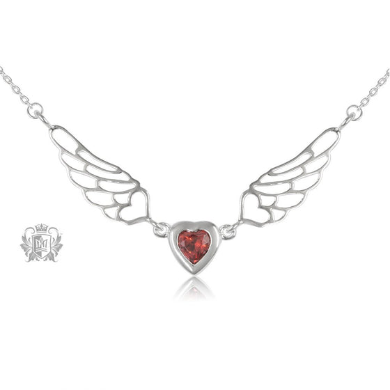 Red Cubic Angel Heart Wings - Metalsmiths Sterling™ Canada
