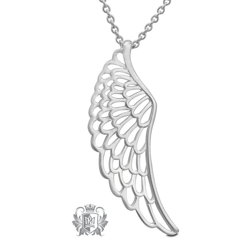 Cutout Angel Wing Pendant - 18 inch chain Pendants - 1