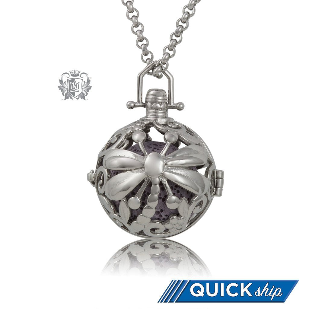 Perfect Scent Dragonfly Aromatherapy Locket (Large) - Quick Ship - Metalsmiths Sterling™ US