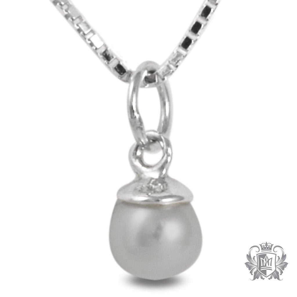 Metalsmiths Sterling Silver Petite Pearl Pendant GREY