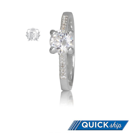 Quick Ship Serious Sparkle Cubic Ring
