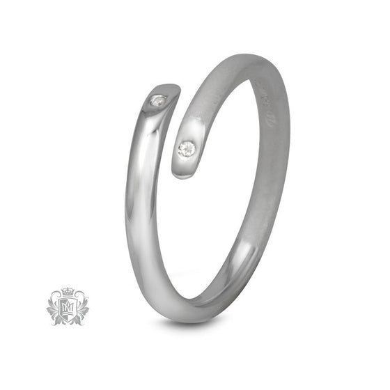 Diamond Bypass Ring - Metalsmiths Sterling™ Canada