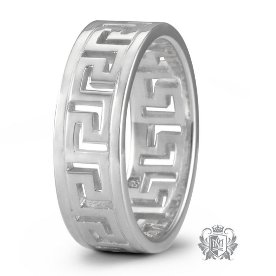 Large Greek Key Band (His) - Metalsmiths Sterling™ Canada