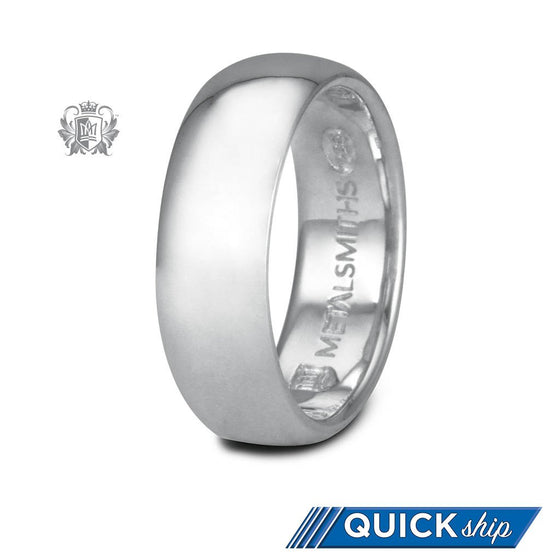 Quick Ship Half Round Band - Metalsmiths Sterling䋢 Canada