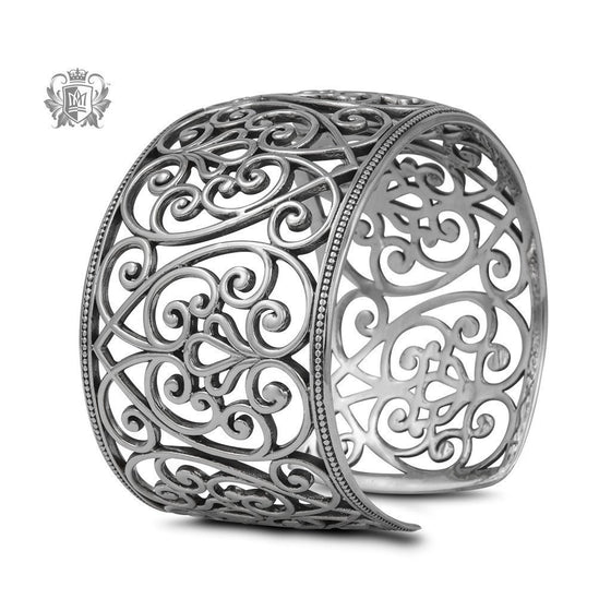 Ornate Heart Bangle - Metalsmiths Sterling™ Canada