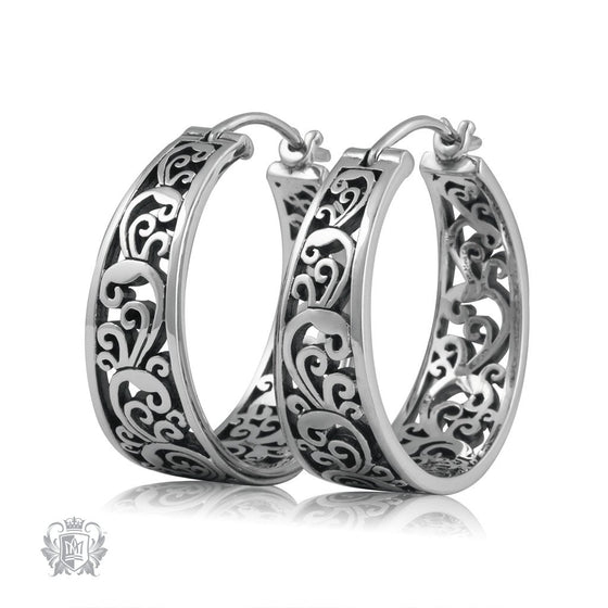 Invoking Venice Hoops Metalsmiths Sterling Silver