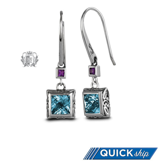 Square Panos Konidas Earrings - Quick Ship