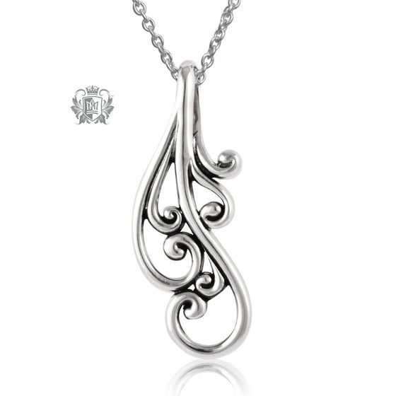 Sterling Silver Swirl Pendant Metalsmiths Sterling