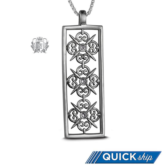 Panos Konidas Rectangular Scroll Pendant