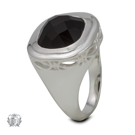 Checker Cut Marquise Filigree Ring - Metalsmiths Sterling™ Canada