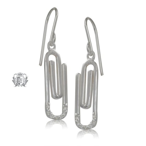 Sterling Silver Paperclip Earrings