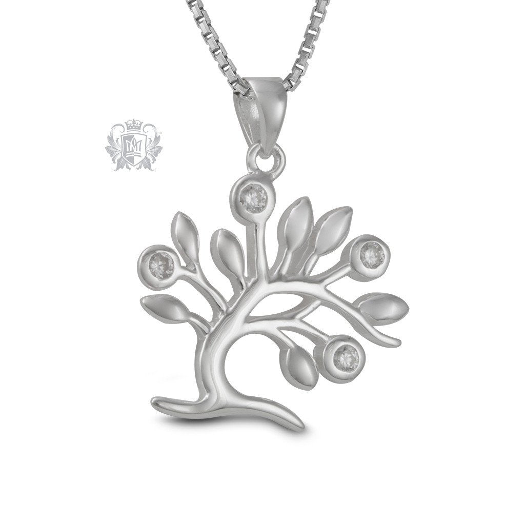 Sparkling Tree of Life Sterling Silver Pendant
