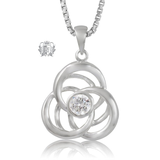 Metalsmiths Sterling Silver Sparkling Love Knot Pendant