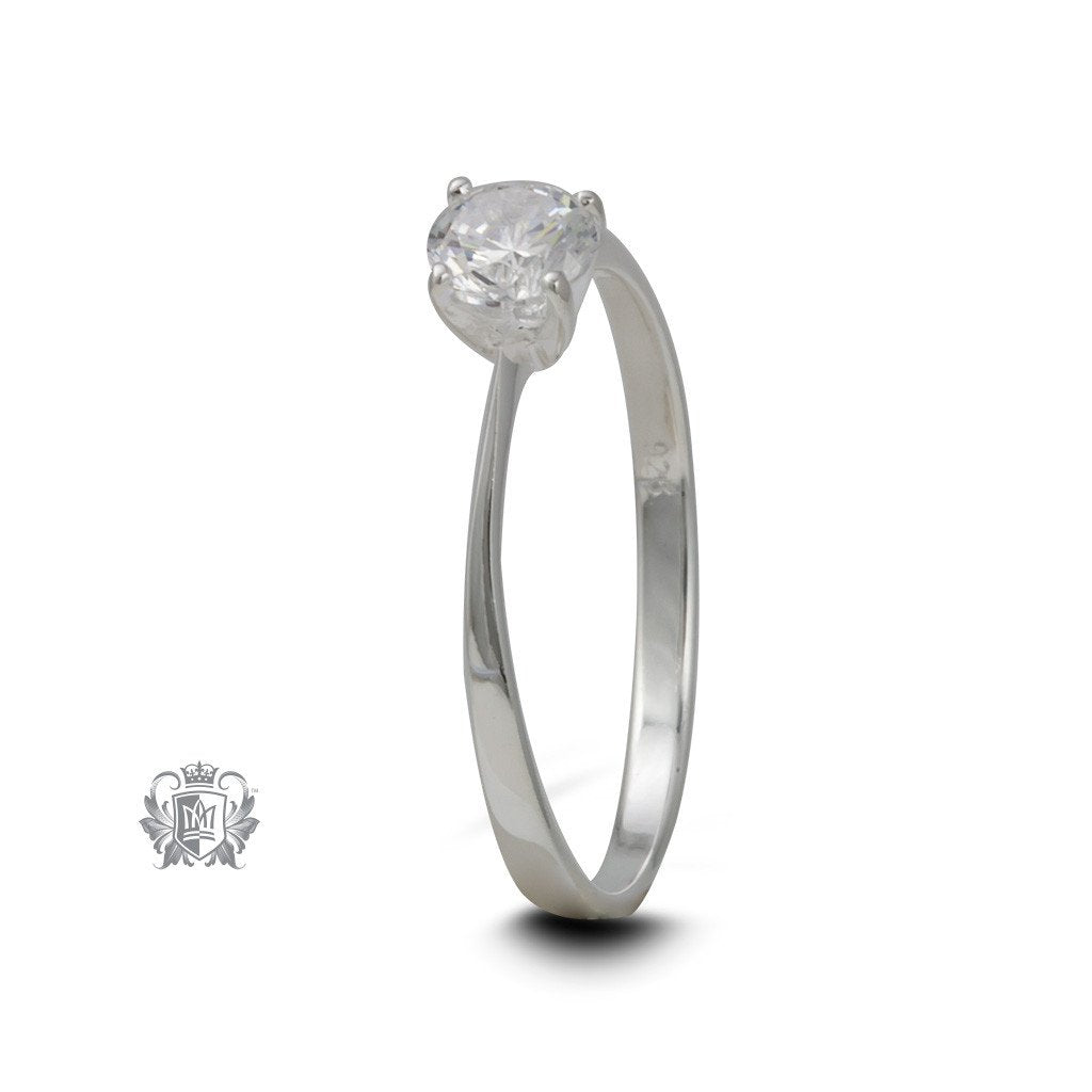 Modern Cubic Solitaire Ring - front