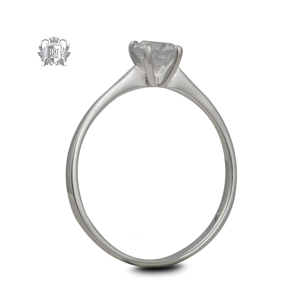 Modern Cubic Solitaire Ring - side