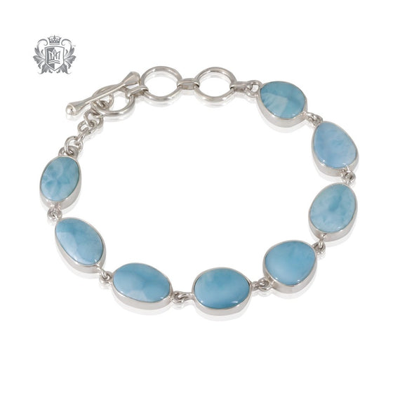 Larimar Toggle Bracelet Metalsmiths Sterling Silver One of A Kind