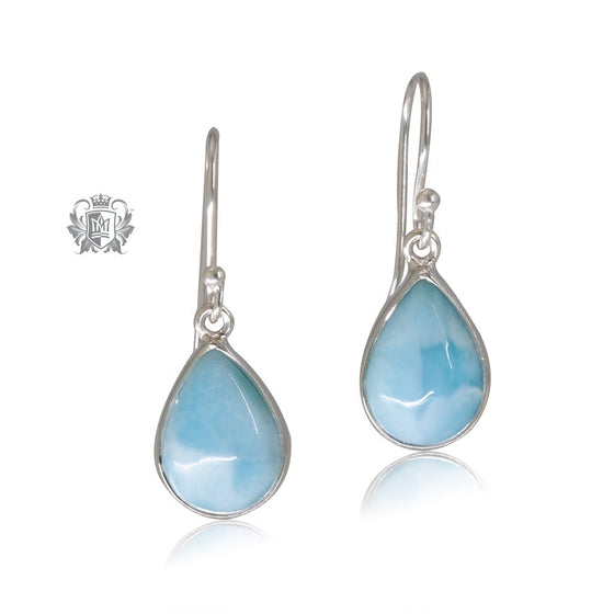 Larimar Pear Hangers Metalsmiths Sterling Silver One of A Kind