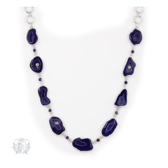 Amethyst Agate Statement Necklace