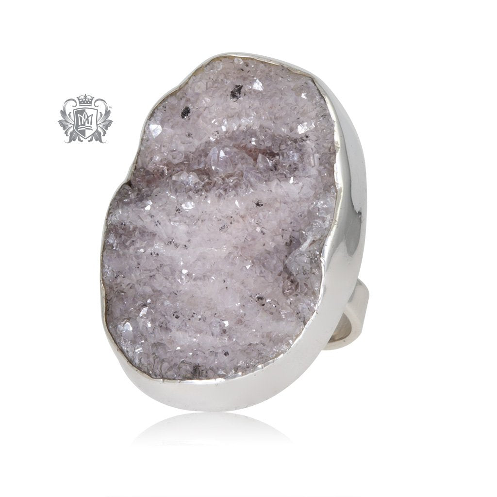 Oversized Oval Druzy Ring Metalsmiths Sterling Silver