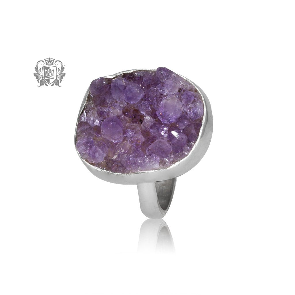 Rough Amethyst Ring Metalsmiths Sterling Silver One of A Kind