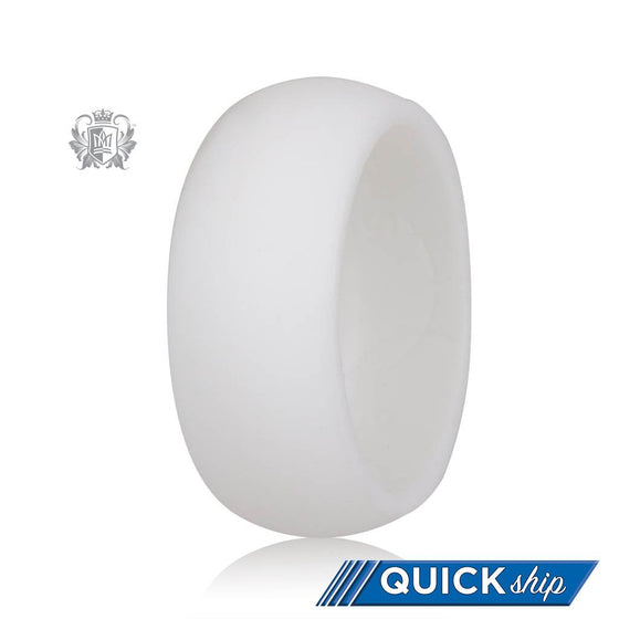 Unisex Silicone Active Band - White - Quick Ship - Metalsmiths Sterling™ US