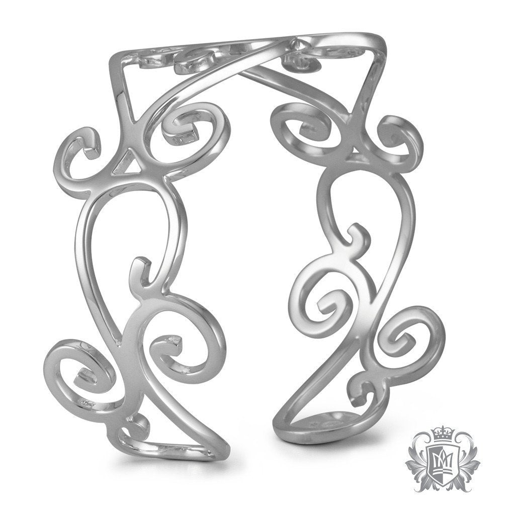 Scrolled Bangle - Metalsmiths Sterling™ Canada