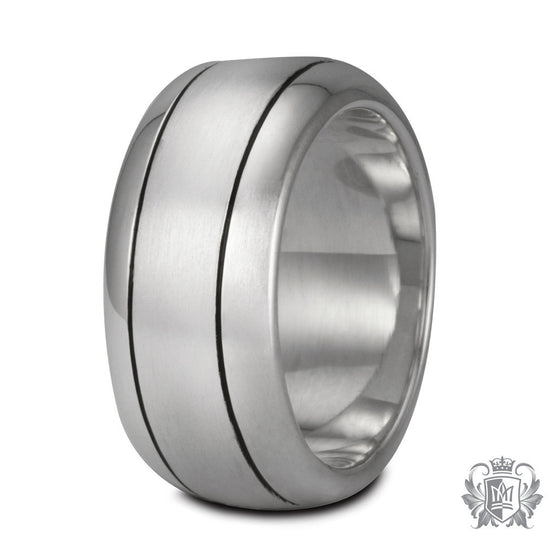 Metalsmiths Sterling Silver Brushed Half Round Band