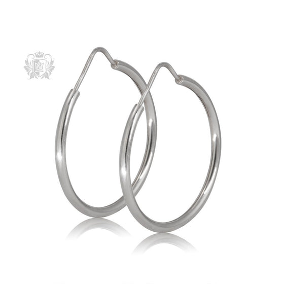 Metalsmiths Sterling Silver Sleeper Hoop Earrings