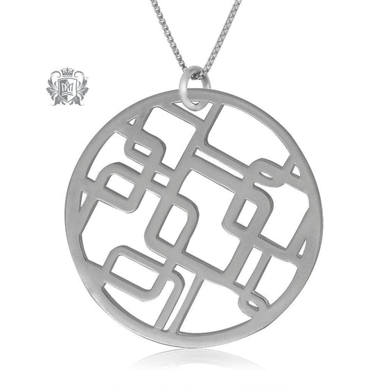 Metalsmiths Sterling Silver Deco Squares Pendant