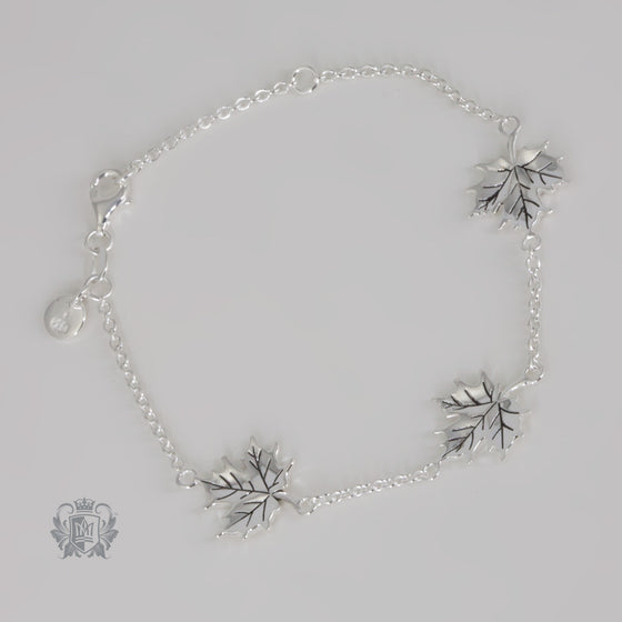 Metalsmiths Stering Natural Maple Leaf Bracelet SAMPLE