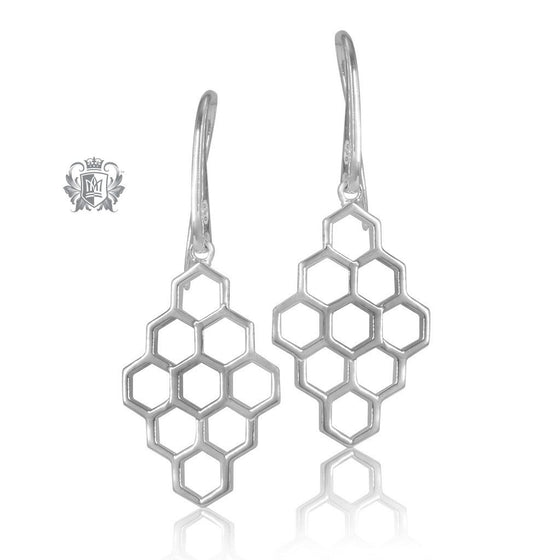 Metalsmiths Sterling Silver Honeycomb Earrings - SAMPLE