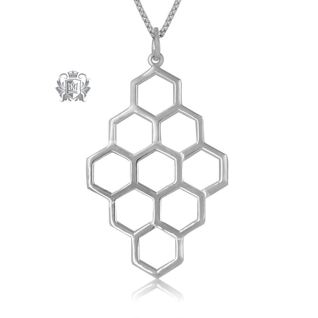 Metalsmiths Sterling Silver Honeycomb Pendant - SAMPLE