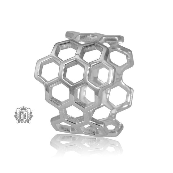 Metalsmiths Sterling Silver Honeycomb Ring SAMPLE