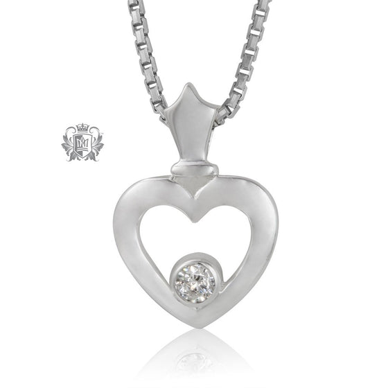 Metalsmiths Sterling Silver Crowning Love Pendant