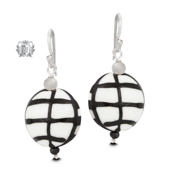 Black Grid Earrings