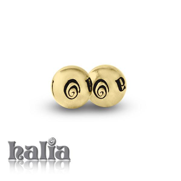 Halia Bangle Cuffballs - 10 K Gold Cuffballs Bracelets - 2
