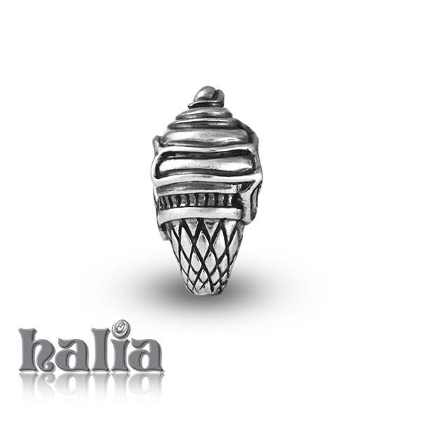 Ice Cream Cone -  Sterling Silver Bead