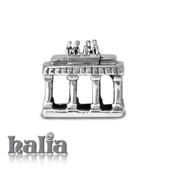 Brandenburg Gate -  Sterling Silver Bead