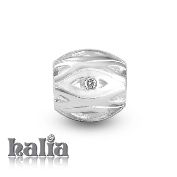 Seeing Clear -  Sterling Silver Bead with Diamonds