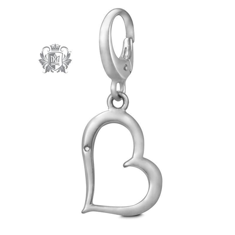 Cubic Wave Heart Charm -  Charm