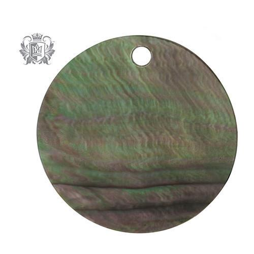 Large Grey Mother of Pearl Background Disk -  Lunetta Background Disc - 2