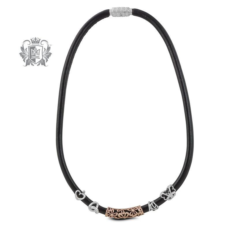 Black Leather Embrace Necklace -  Embrace - 2